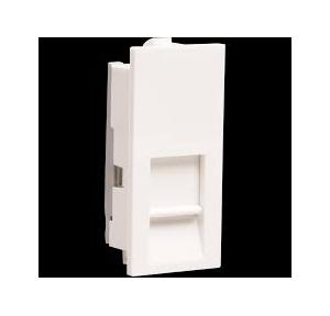 Crabtree Thames 1 M RJ 11 Socket with Shutter, ACTKRWW111