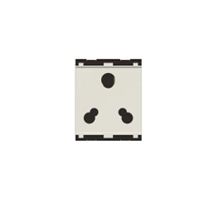 Norisys Cube C5212.01 6A 3 Pin 2M Socket, White