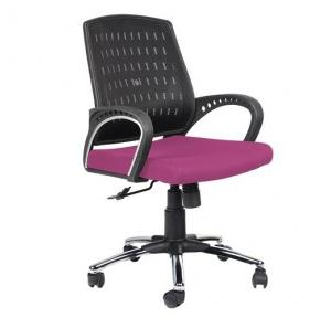 97 Black And Purple Office Chair