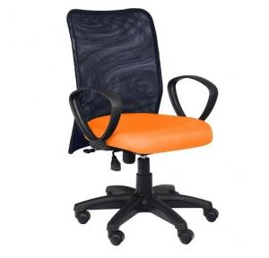 93 Black And Orange Office Chair
