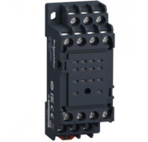 Schneider Sockets Mixed Screw Clamp Relay Type RXM2/RXM4 (Without Lockable Test Button), RXZE1M4C