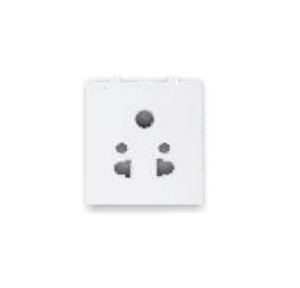 GreatWhite Fiana 10A 5 Pin 2M Multi Socket, 20234