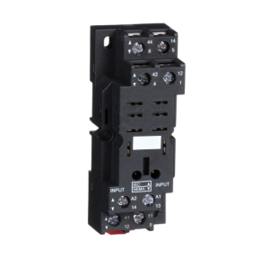 Schneider Socket For Power Relay Zelio RPZ With Mixed Contacts Screw Clamp, RPZF4