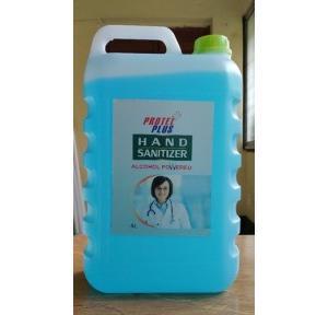 Protel Plus Hand Sanitizer, IPA 70% ± 1 % V/V, GLYCERINE 1.5% V/V, H202 0.45% V/V, 5 ltr packing