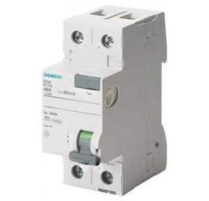 Siemens Betagard 5SM3 RCCB 40 A, 2 Pole, 100 MA, Type A, 5SM34146RC