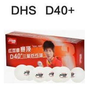 DHS Dual D40+ Table Tennis Ball, (Pack of 10 Pcs)
