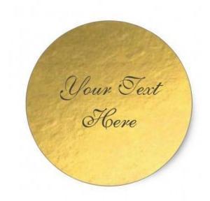 Sticker Gold Foil, 4 Inch