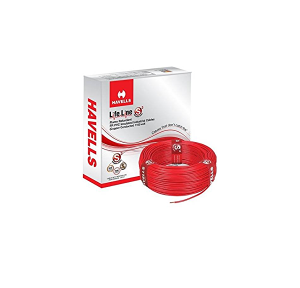 Havells Lifeline 1.5 Sq mm Single Core HRFR PVC Industrial Cable, 90 Mtr Roll