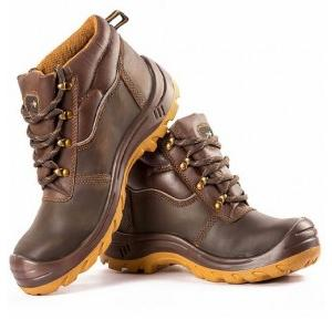 Hillson Z+3 Brown Composite Toe Safety Shoes, Size: 7