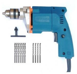 Dee Power Electric Drill Machine With 6 HSS & 4 Masonry Bits, 300 W, 2600 rpm