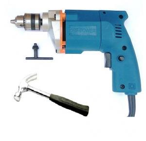 Dee Power Electric Drill Machine With Hammer, 300 W, 2600 rpm