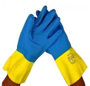 Midas Capital 2 Rubber Safety Hand Gloves, Medium ( Pack of 12 Pair )