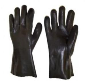Midas Black PVC Coated Safety Gloves, 14 Inch
