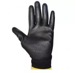 Midas Black PU Coated Safety Gloves, Large ( Pack of 12 Pair )