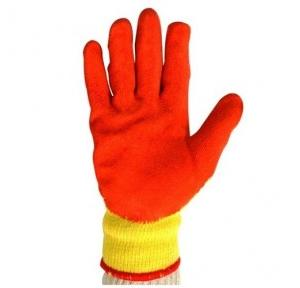 Midas Splendor Grip Yellow and Orange Coated Safety Gloves, Small ( Pack of 12 Pair )